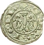 reverse:  Messina  Federico II (1197-1250) Mezzo denaro 1221
