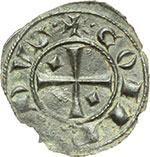 reverse:  Messina  Corrado I (1250-1254) Mezzo denaro