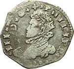 obverse:  Messina  Filippo III (1598-1621) 3 tarì 1618.