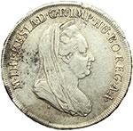 obverse:  Milano  Maria Teresa (1740-1780) Mezzo scudo 1778.