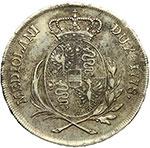 reverse:  Milano  Maria Teresa (1740-1780) Mezzo scudo 1778.