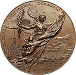 obverse:  Milano   Medaglia 1895 per l inaugurazione del monumento ai Caduti delle 5 giornate di Milano.