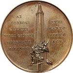 reverse:  Milano   Medaglia 1895 per l inaugurazione del monumento ai Caduti delle 5 giornate di Milano.