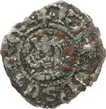 obverse:  Napoli  Carlo II d Angio (1285-1309) Mezzo denaro regale.