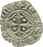 reverse:  Napoli  Giovanna I d Angiò (1343-1347) Denaro vedovile.