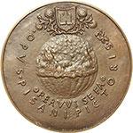 reverse:  Napoli  Don Inigo d Avalos ( ....-1484), Cortigiano di Alfonso V  Medaglia ca 1449.