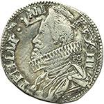 obverse:  Napoli  Filippo III (1598-1621) 15 grani 1619.