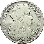 obverse:  Napoli  Carlo II  (1676-1700). Ducato 1689.