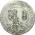 reverse:  Napoli  Carlo II  (1676-1700). Ducato 1689.