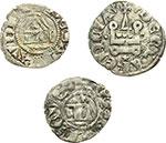 obverse:  Lodovico I (1296-1302) Lotto di 3 monete. Baronia di Vaud, Lodovico I (1296-1302). Denaro con il tempio di mistura. Zecca: Nyon. MIR 52. Pesa grammi 0,79. Rara. Base d'asta euri 180,00 – Baronia di Vaud , Lodovico  II (1302-1350). Viennese di mistura. Zecca: Nyon o Pierre Châtel. MIR 74b. Pesa grammi 0,65. Rara. Principato di Acaja: Filippo di Savoia. Denaro tornese di mistura con varianti. Pesa grammi 0,78