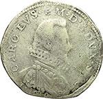 obverse:  Carlo Emanuele I (1580-1630) Scudo da 9 fiorini 1619, Torino.