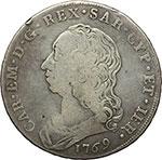 obverse:     Carlo Emanuele III (1730-1773) Scudo da 6 lire 1769, Torino.