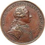 obverse:  Vittorio Amedeo III (1773-1796) Medaglia 1783 per l istituzione della Regia Accademia delle Scienze di Torino.