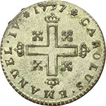 reverse:  Carlo Emanuele IV (1796-1802) Soldo 1797.