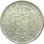 reverse:  Carlo Felice (1821-1831) 5 lire 1827 Genova.