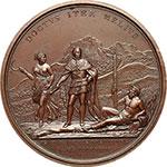 reverse:  Carlo Felice (1821-1831) Medaglia 1824, celebra la regolazione del corso dell Isère.
