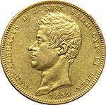 obverse:  Carlo Alberto (1831-1849) 100 lire 1835, T.