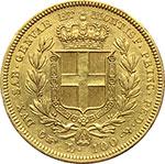 reverse:  Carlo Alberto (1831-1849) 100 lire 1835, T.