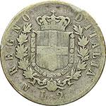 reverse:  Vittorio Emanuele II (1861-1878) 2 lire 1862 Napoli.