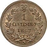 reverse:  Vittorio Emanuele II (1861-1878) Centesimo 1862 N.