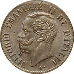 obverse:  Vittorio Emanuele II (1861-1878) Centesimo 1867 M.