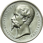 obverse:  Vittorio Emanuele II  (1849-1861) Medaglia 1855 per la Guerra in Crimea.