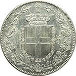reverse:  Umberto I (1878-1900) 5 lire 1879.