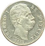 obverse:  Umberto I (1878-1900) 2 lire 1882.