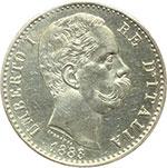 obverse:  Umberto I (1878-1900) 2 lire 1883.
