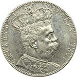 obverse:  Umberto I (1878-1900) Tallero 1891.