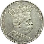 obverse:  Umberto I (1878-1900) Tallero 1896.
