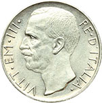 obverse:  Vittorio Emanuele III (1900-1943) 10 lire 1926.