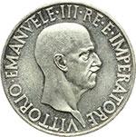 obverse:  Vittorio Emanuele III (1900-1943) 10 lire 1936.