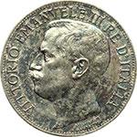 obverse:  Vittorio Emanuele III (1900-1943) 5 lire 1911.
