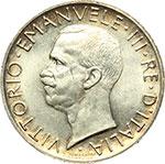 obverse:  Vittorio Emanuele III (1900-1943) 5 lire 1929