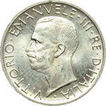 obverse:  Vittorio Emanuele III (1900-1943) 5 lire 1930.