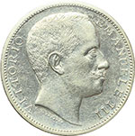 obverse:  Vittorio Emanuele III (1900-1943) 2 lire 1905.
