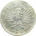 reverse:  Vittorio Emanuele III (1900-1943) 2 lire 1905.
