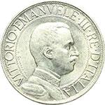 obverse:  Vittorio Emanuele III (1900-1943) 2 lire 1910.
