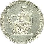reverse:  Austria  Francesco Giuseppe  (1848-1916) 2 fiorini 1879, celebrativi le nozze d argento con la Principessa Elisabetta di Baviera (Sissi 1837-1898). Commemorativi.