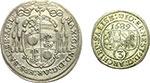 obverse:  Austria-Salisburgo  Massimiliano Gandolfo (1668-1687) Lotto di 2 monete: 15 kreuzer 1684, Giovanni Ernesto Graf (1687-1709) 3 kreuzer 1689.