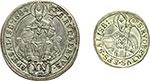 reverse:  Austria-Salisburgo  Massimiliano Gandolfo (1668-1687) Lotto di 2 monete: 15 kreuzer 1684, Giovanni Ernesto Graf (1687-1709) 3 kreuzer 1689.
