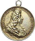 obverse:  Belgio  Carlo II di Spagna (1674-1700). Medaglia 1692 del Governatore Generale, Belgium Resurgens