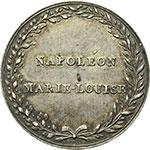 obverse:  Francia  Napoleone (1805-1814) Medaglia celebretaviva le nozze con Maria Luisa avvenute a Strasburgo il 22 marzo 1810