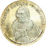 reverse:  Germania DDR   20 marchi 1983, per il 500° anniversario della nascita di Martin Lutero.
