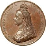 obverse:  Gran Bretagna  Vittoria (1837-1901) Medaglia 1887 per il Golden Jubelee.