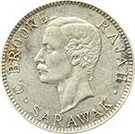 obverse:  Inghilterra, Sarawak  Charles Brooke (1868-1917) 20 centesimi 1913 H.