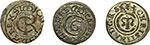 obverse:  Livonia   Lotto di tre solidi: Cristina, Riga 1648, Carl X Gustav, Livonia 1657, Carl XI, Riga 1661.