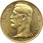 obverse:  Principato di Monaco  Alberto I (1889-1922) 100 franchi 1901.
