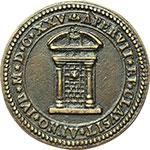 obverse:  Urbano VIII (1623-1644), Maffeo Barberini Medaglia 1625 per l apertura della Porta Santa.